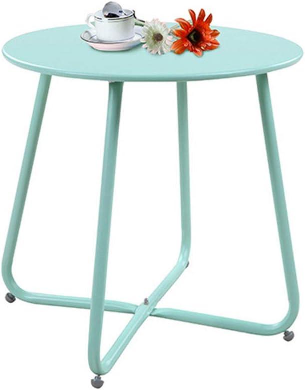 Snelle Express KangJZ-Tables KJzhu woonkamertafel, slaapkamer ijzer kunst multifunctionele kleur nachtkastje balkon sofa bijzettafel - 45 * 45 cm groot Groen gV5A1wk