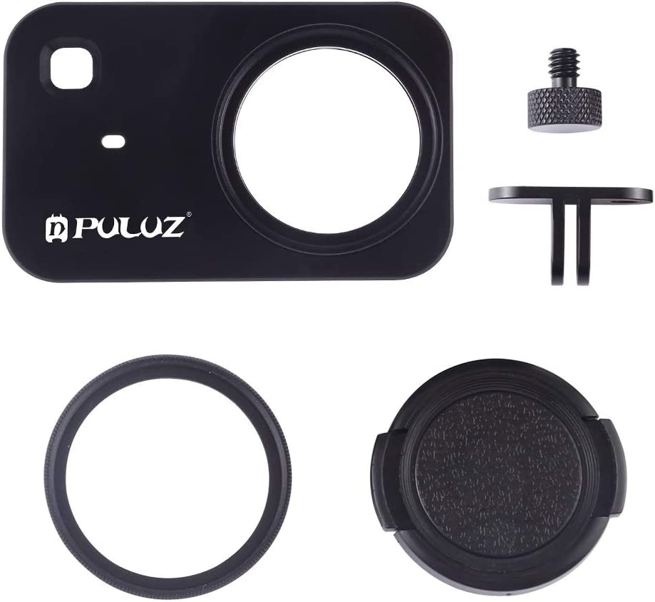 Black Ychaoya Housing Shell CNC Aluminum Alloy Protective Cage with 37mm UV Filter Lens for Xiaomi Mijia Little Camera Color : Black