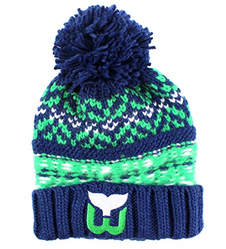 Hartford Whalers NHL American Needle Gusto Cuffed Pom Beanie Knit Hat