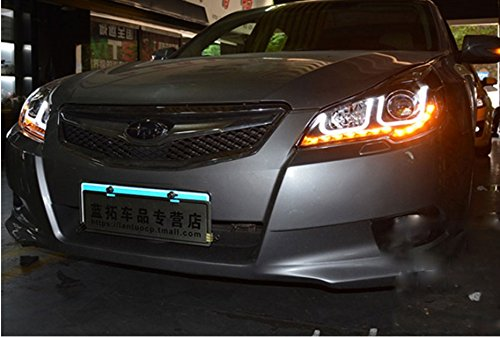 GOWE Car Styling For Subaru Outback 2010-2014 for Outback head lamp LED DRL Lens Double Beam D2H HID Xenon bi xenon lens Color Temperature:8000K;Wattage:35K 3