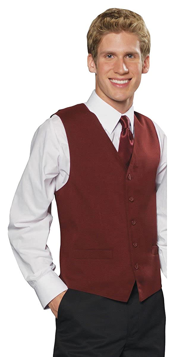Burgundy Edwards Garment Mens Textured Weave Economy Vest 4XL Tall