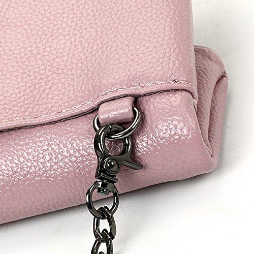 ZPFME Bolso Para Mujer Moda Colocación Multifunción Plegable Bolso Femenino Partido Retro Banquete Moda Bolso De Hombro Bolsa De Damas Pink