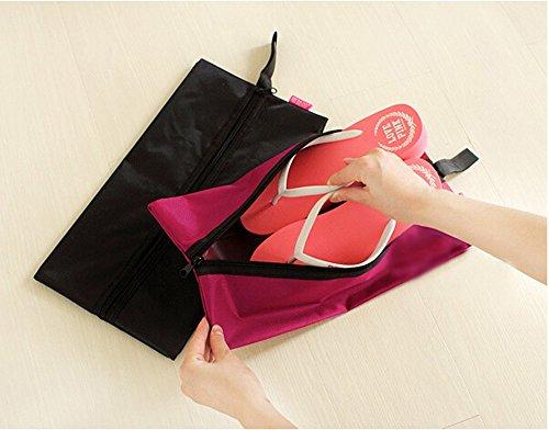 19cm Tissu Noir Portable Extérieur En Sac Rangement about De Voyage Étanche 37 Dealglad® Pliable Chaussures Green Nylon nF67wqWP