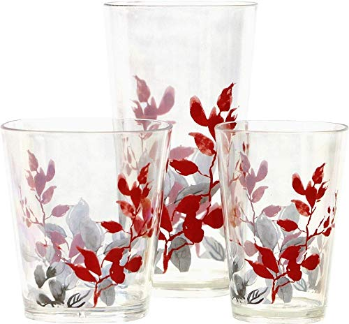 4PCS Kyoto Leaves Acrylic Drinkware Beverage Glass 8-oz Juice kslick from Unknown