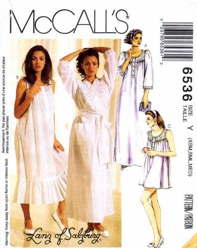 Amazon Mccalls 6536 Womens Robe Nightgowns Sewing Pattern Size