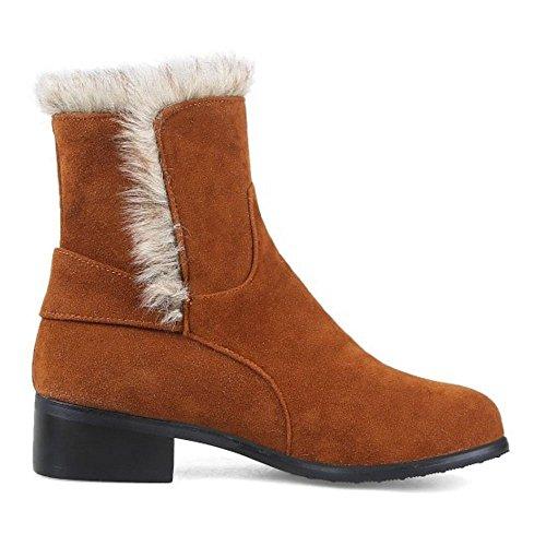 Fashion Yellow Women On COOLCEPT Boots Pull Autumn TxaqnF5w