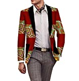 Comfy Men Africa Tops Cotton Lapel Long Sleeve Blazer 4 M