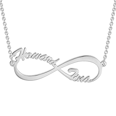 aed95f279a91 SOUFEEL Collar Plata Colgante con Nombre Infinito Personalizados Regalo  para Familia Cadena Más Extención  Amazon.es  Joyería