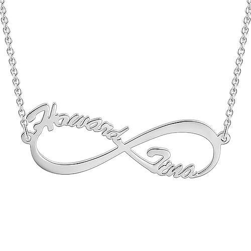 SOUFEEL Collar Plata Colgante con Nombre Infinito Personalizados Regalo  para Familia Cadena Más Extención  Amazon.es  Joyería 50e493ef4ca