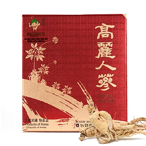 - [Medicinal Korean Herb] Premium Korean Koryeo Ginseng 4 Years Old (Renshen/고려 인삼) Dried Bulk Herbs 300g (50 Roots)