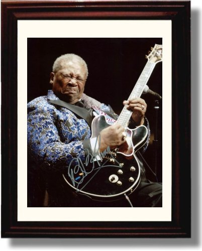 Framed BB King Autograph Replica (Music Signed Autograph)