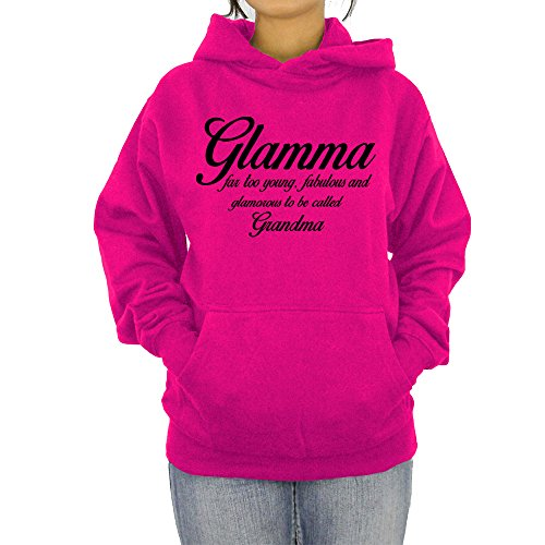 Glamma Hoodie Grandmother Grandma Hooded Pullover Long Beach Apparel