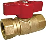American Valve M88C 1'' Gas Ball Valve with FIP Threaded Ends, 1-Inch