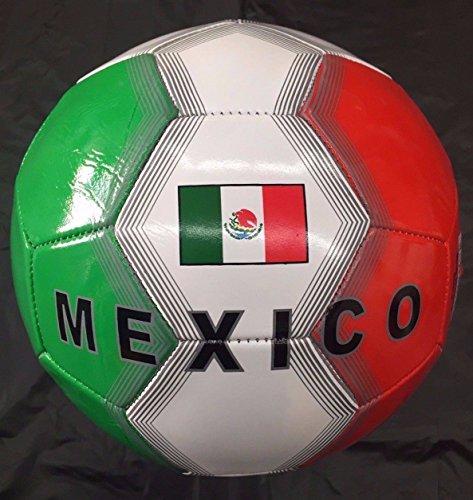 Mexico Flag Soccer Ball Football Size-5 Panel 32