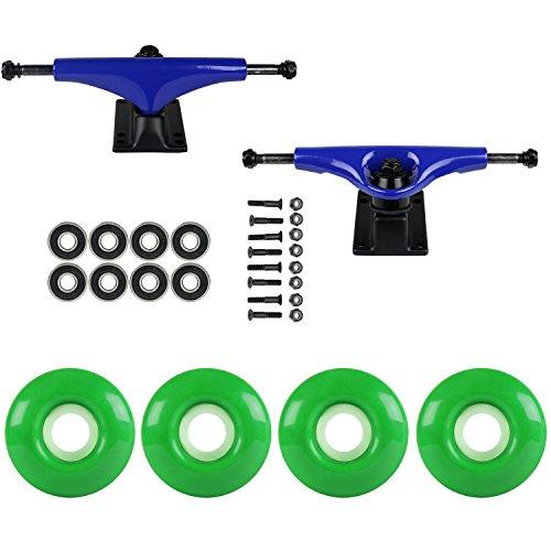 真空即席で出来ているスケートボードパッケージHavocブルー5.0 Trucks 52 MmケリーグリーンABEC 7 Bearings