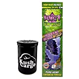 Juicy Jays Grape Hemp Wraps All Natural with KC Pop Top Jar (8 Packs)