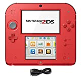 Nintendo 2DS 2 Items Bundle:Nintendo 2DS-Crimson Red 2 w/Mario Kart 7 Console and USB Sync Charge USB Cable