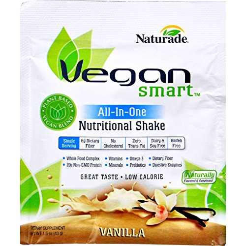Naturade VeganSmart AllInOne Nutritional Shake Vanilla 1.51 oz Case of 1