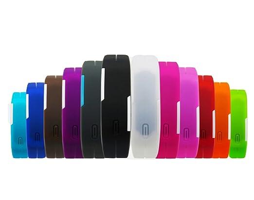 Amazon.com : HSW Ultra Thin LED Watch Bracelet Silicone Waterproof Digital Fashion Gym Running Sports Wrist Watches Band Strap Adjustable (Aquamarine) ...