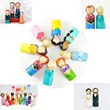 8pcs Unfinished Wood Doll Bodies Assorted Wooden People Shapes for Arts and Crafts