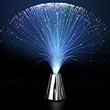 INSFIRE 2Pcs LED Multicolor Changing Fiber Optic Fountain Night light Calming Lamp For Wedding Christmas Party Holiday
