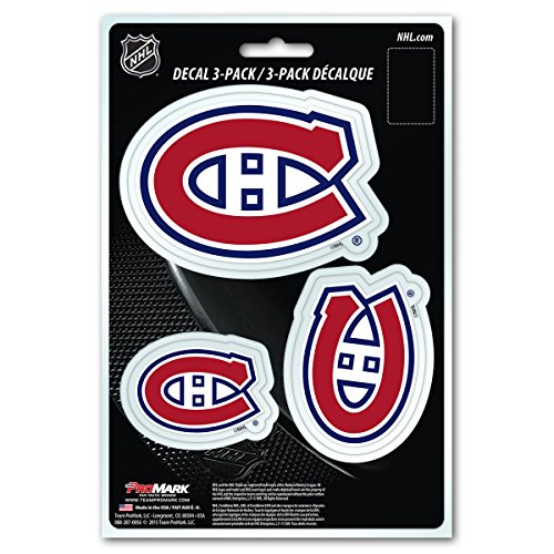 Montreal Canadians Hockey (NHL Montreal Canadiens Team Decal, 3-Pack)