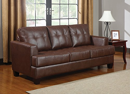 1PerfectChoice Samuel Dark Brown Stationary Sofa Sleeper