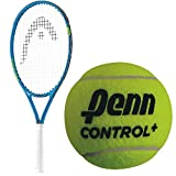 HEAD Speed 23 Inch Junior Boy's Tennis Racquet bundled with a 3 Pack of Penn Control+ Green Dot Tennis Balls