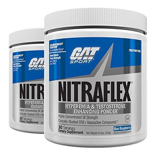 GAT Nitraflex Pre-Workout High-Intensity Training Formula, Blue Raspberry