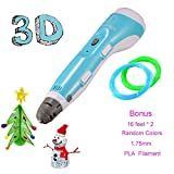 3D Pen with PLA Filament Refills,iDrawing 3D Printing Pens with Filament for Kids & Adults DIY, Perfect Gift, Creative for Kids Minds,Compatible with 1.75mm PLA/ABS Filament Refills Non-Clogging
