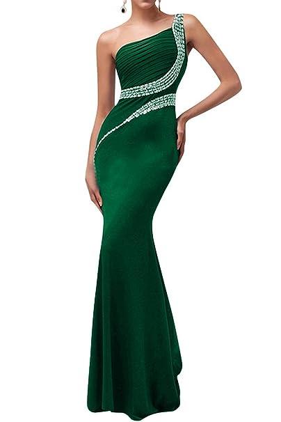 sunvary Mermaid sombra un hombro Fiesta Fiesta Vestidos de Fiesta Verde verde 20 W