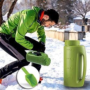 Hand Spreader Shaker, 2L Lawn Fertilizer Spreader Portable,Handheld Seed Salt Dispenser Shaker, Adjustable Hole…