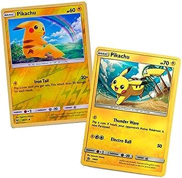 Pokemon Cards Pack Pikachu Promo SM81 & Pikachu 28/73 Reverse 2017 ...
