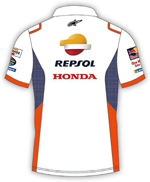 REPSOL Equipo Honda Replica Polo para Hombre: Amazon.es: Ropa y ...