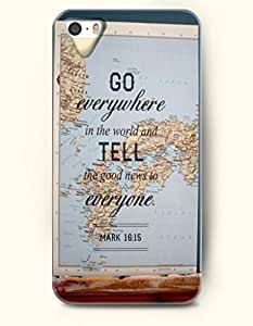 Go Everywhere In The World And Tell The Good News To Everyone Mark 16:15 - Bible Verses - iPhone 5 / 5s Hard Back Plastic