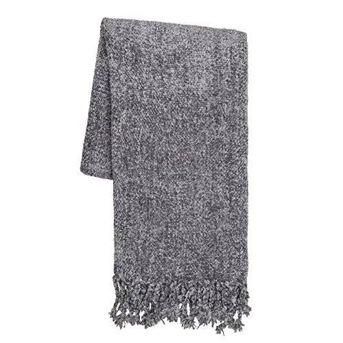 Sova by SLPR Extra Soft Chenille Throw Blanket with Fringed