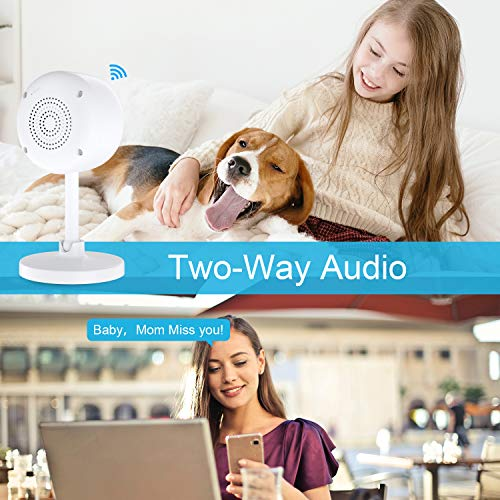 Home security camera,Baby monitor,Smart wifi ip camera 1080P,Indoor outdoor security camera wireless surveillance camera with night vision,2-Way Audio,video camera monitor for Baby/Pet Alexa Support