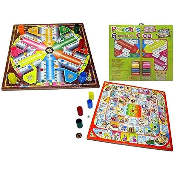 Rama- Tablero PARCHIS 6 Y OCA 41X41 con FICHAS, Multicolor (90567): Amazon.es: Juguetes y juegos