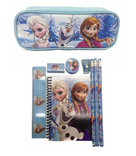Disney Frozen Princess Anna Elsa & Olaf Combo Stationary Set + Pencil Pouch -