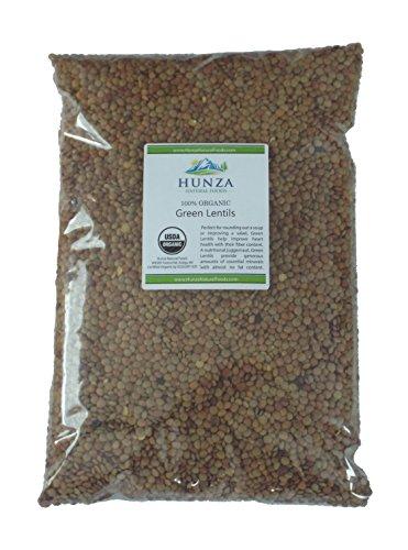 Hunza Organic Green Lentils (5 lbs) (Small Lentil)