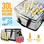 OlarHike-30-Liter-Large-Cooler-Lunch-Bag-Collapsible-and-Insulated-Lunch-Box-Leakproof-Cooler-Bag-for-Camping-Picnic-BBQ-Family-Outdoor-Activities-Grey-2