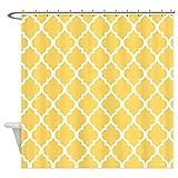 70 x 78 shower curtain - Lemon Yellow Quatrefoil Pattern - Shower Curtain by Vandarllin£¨TM) (Extra Long 70