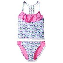 YMI girls Big Girls Show Gals Two Piece Lazer Cut Flounce Tankini Swimsuit