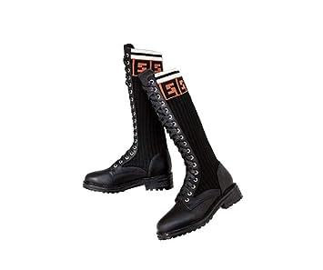 Amazon.com: Knee - Botas altas para mujer, con correas ...