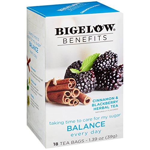 Bigelow Balance Cinnamon and Blackberry Herbal Tea, 18 Teabags, 6 (Bigelow Tea Cinnamon Tea)