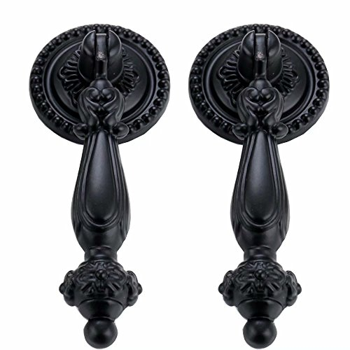 FirstDecor 2PCS Antique Style, European Door Drawer Knob,Zinc Alloy Kitchen Cupboard Pull Handle,Vintage Dresser,Wardrobe Cabinets & Vanity Knobs and ()