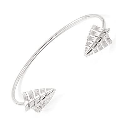 arrow elements jewellery bracelets silver medium bracelet