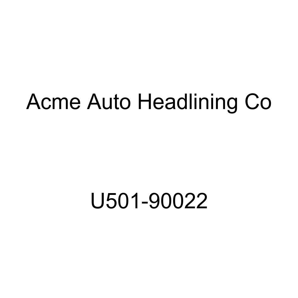 Acme U501-90022 Front Dark Brown Vinyl Bench Seat Upholstery with Palomino Vinyl Inserts