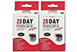 Godefroy 28 Day Mascara Permanent Eyelash and Eyebrow Tint Kit Single (Black) - Pack of 2