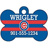 MLB Team Dog Tag Pet Id Tag Personalized w/ Name & Number (Chicago Cubs)